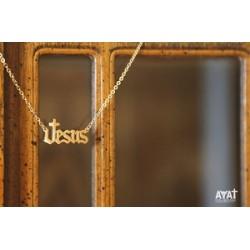 سنسال ستانلس - يسوع - انكليزي - ذهبي