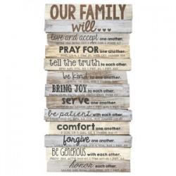 منظر تعليق -  خشبي - العائلة - حجم كبير