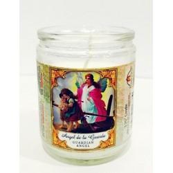 شمع زجاجي - الملاك الحارس - 8سم