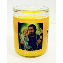 شمع زجاجي - ماريوسف - 8سم