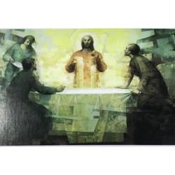 صورة يسوع مع تلميذي عماوس - حجم 11 * 8