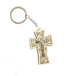 ميدالية مفاتيح  - صليب -  خشب زيتون