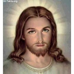 ستيكر وجه يسوع ملون