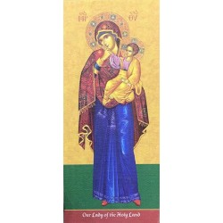 لوحة خشبية - ايقونة العذراء سيدة الاراضي المقدسة - موديل 2