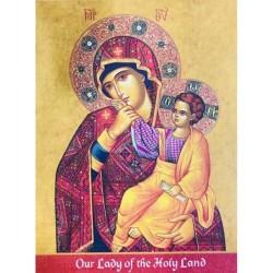 لوحة خشبية - ايقونة العذراء سيدة الاراضي المقدسة - حجم كبير