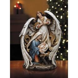 تمثال ريزين - مريم والطفل يسوع مع ملاك