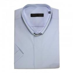 قميص كهنة سكني فاتح - نص كم - قبة عادية -45