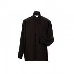 قميص كهنة اسود - كم كامل - 42