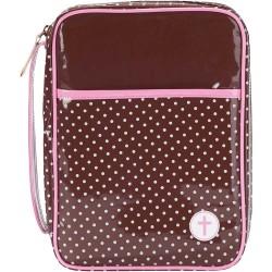 حقيبة كتاب مقدس -  لون بني و زهري - M