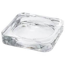 حاملة شمع - زجاج شفاف - حجم كبير