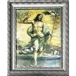 برواز يسوع القائم - خشب معتق - حجم كبير - موديل 3