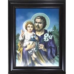 برواز ماريوسف والطفل يسوع  - خشب معتق - كبير - موديل 2