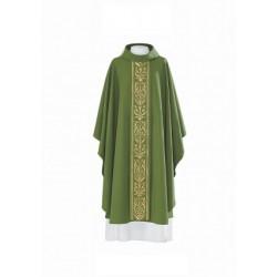 بدلة قداس - اخضر - خط وسط - ذهبي