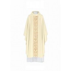 بدلة قداس - اوف وايت - خط وسط - ذهبي