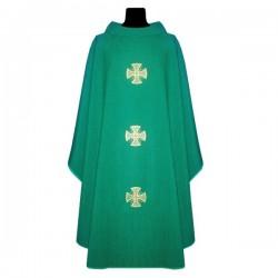 بدلة قداس - اخضر - خط وسط - صلبان