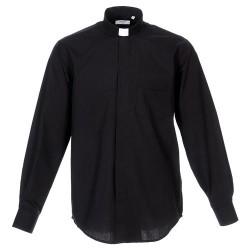 قميص كهنة اسود - قبة عادية - كم كامل - 41