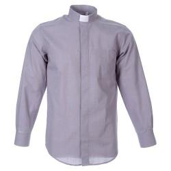 قميص كهنة سكني فاتح - قبة عادية -كم كامل - 44