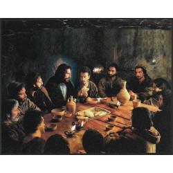 لوحة خشب - العشاء الاخير