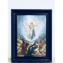 برواز يسوع القائم - خشب معتق - حجم كبير - موديل 2