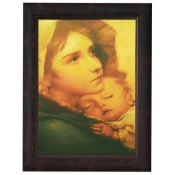 برواز العذراء مريم والطفل يسوع - خشب معتق- حجم كبير