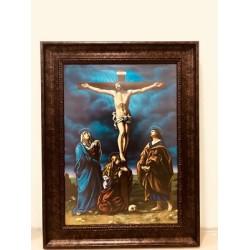 برواز يسوع على الصليب - خشب معتق - حجم كبير