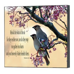 لوحة خشبية - طيور السماء
