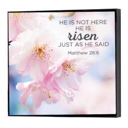 لوحة خشبية -  انه ليس هنا ؛ لقد ارتفع, تماما كما قال. ماثيو 28:6