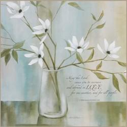 لوحة خشب - المحبة  تسالونيقي 3:12